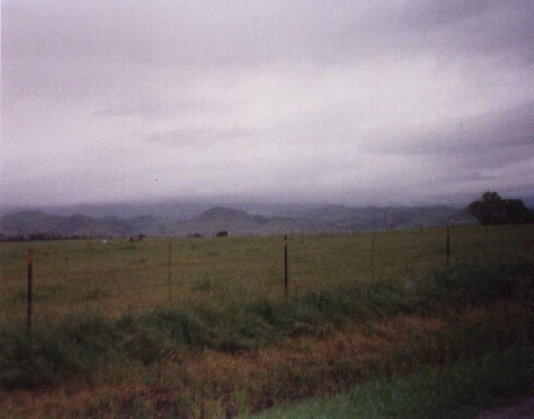 green farmland near Solvang, California