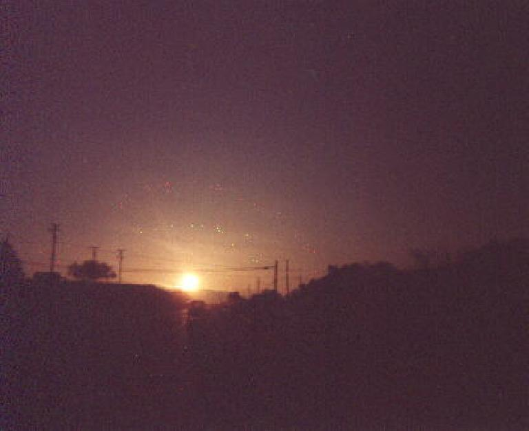 Sunrise during the 1999 Solvang Double Century.