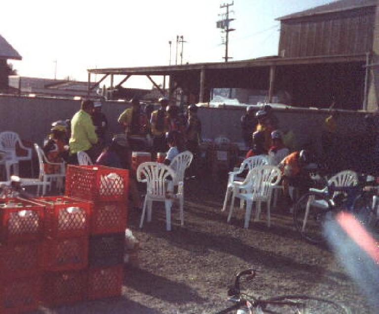 The rest stop at Mile 140 of the 1999 Solvang Double Century.