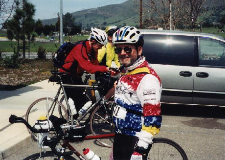 Harry Gretzke, lunch stop, 2000 Solvang Double Century