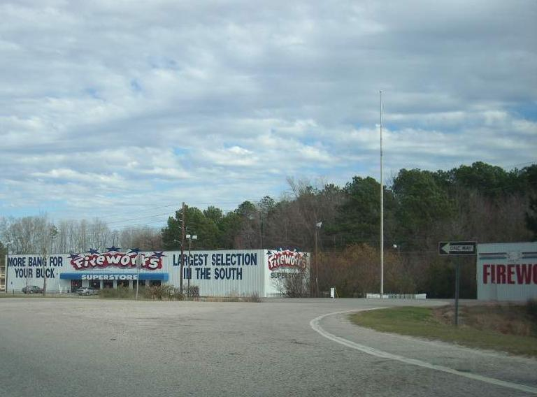 Every time I am down in the South, I always see a lot of fireworks stores. Doesn't matter what time of year.