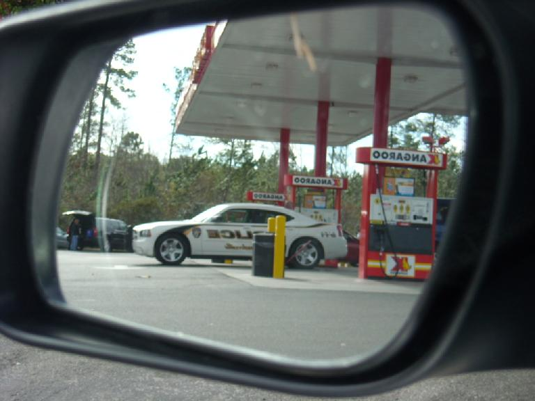 In NASCAR country, it didn't surprise me to see a Dodge Charger cop car.