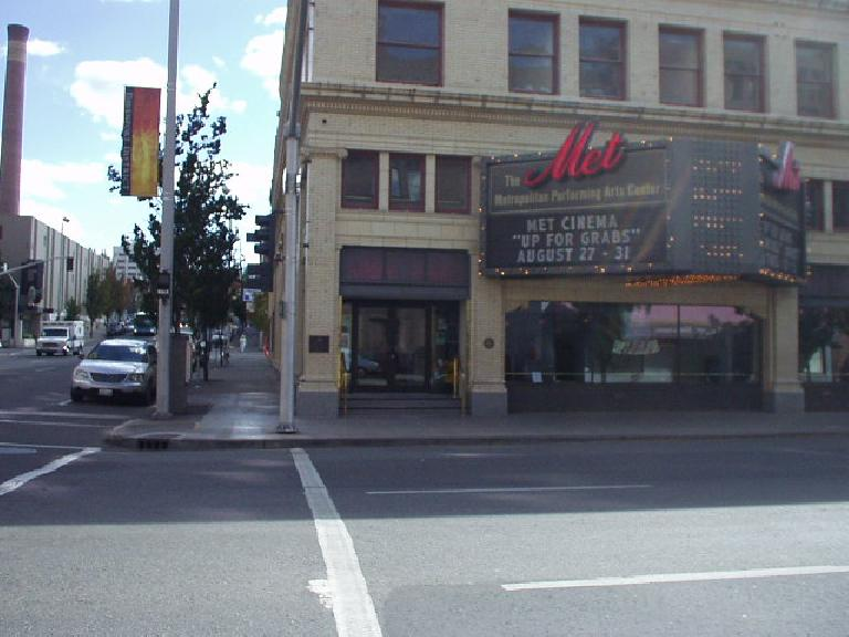 There is some sense of culture here, including this theatre and some ethnic restaurants among all the fast-food places.