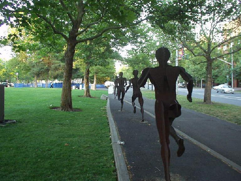 At Riverfront Park, there was this great motif of runners.