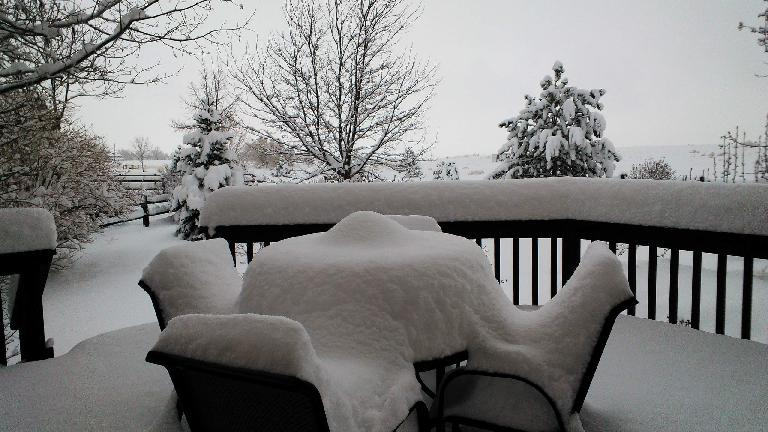 Day 3: About 20 inches of snow! (April 17, 2013)