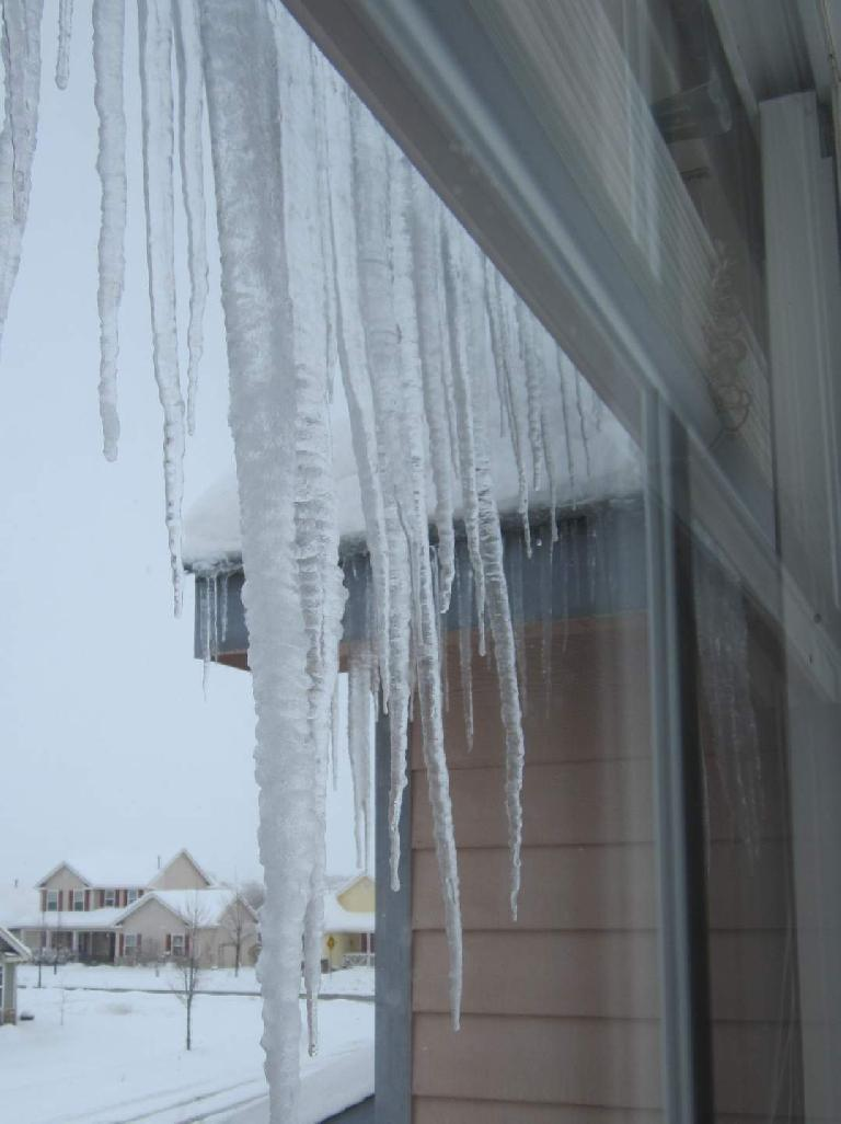 Icicles. (April 17, 2013)