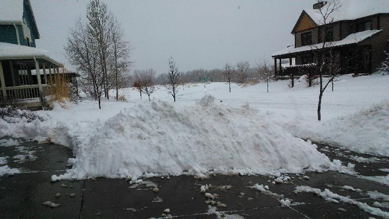 "Day 3: ""There's almost no more room to put all this snow!"" exclaimed my neighbor. (April 17, 2013)"