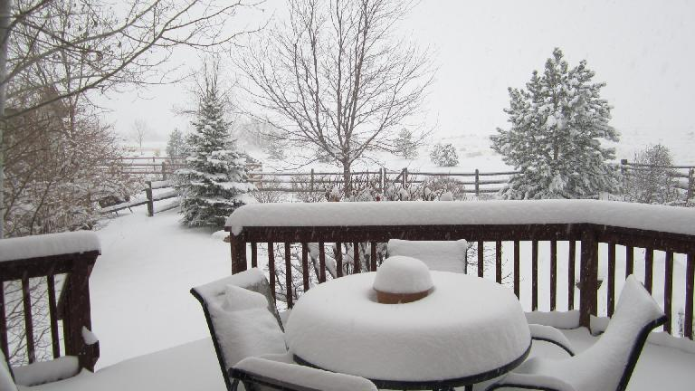 Day 1: Finally, a real dumping of snow in 2013 in Fort Collins.