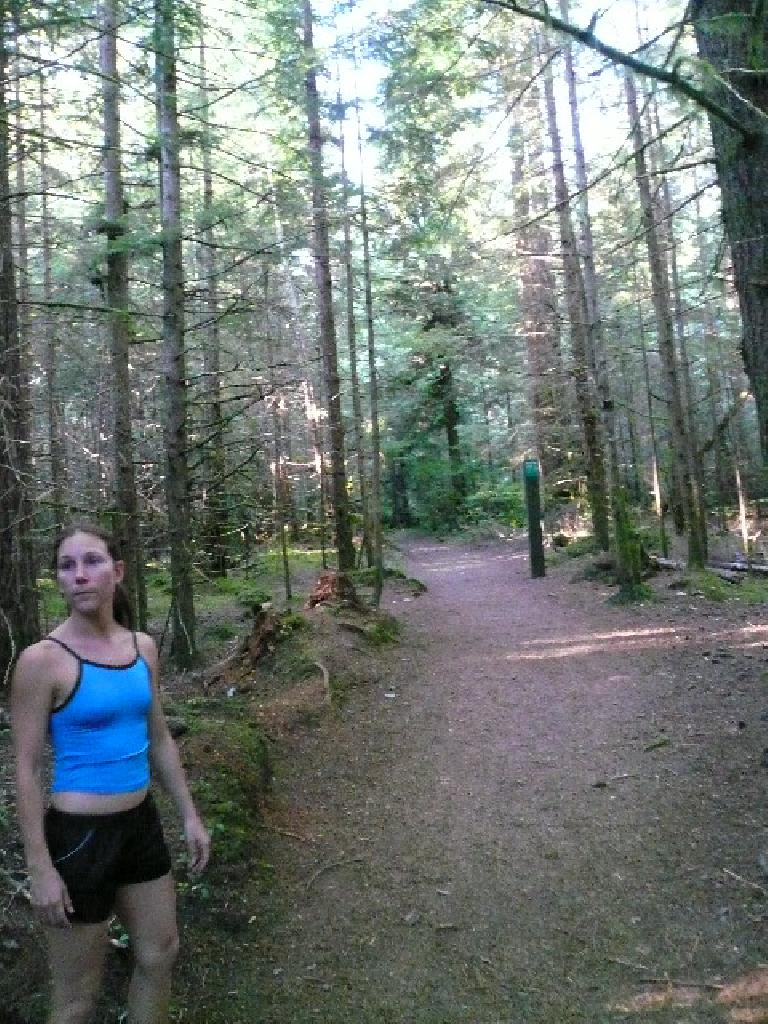 Lisa and I ran 5.2 miles on the Four Lakes Trail (including going by Alice Lake) which was awesome!