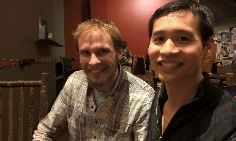 Jeremy R. and Felix Wong at a St. Louis Spanish Meetup.