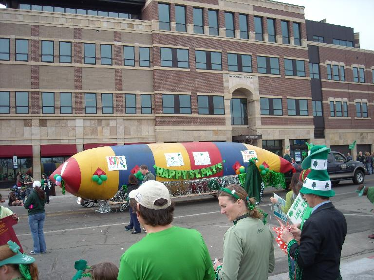 A St. Patrick's Day float.