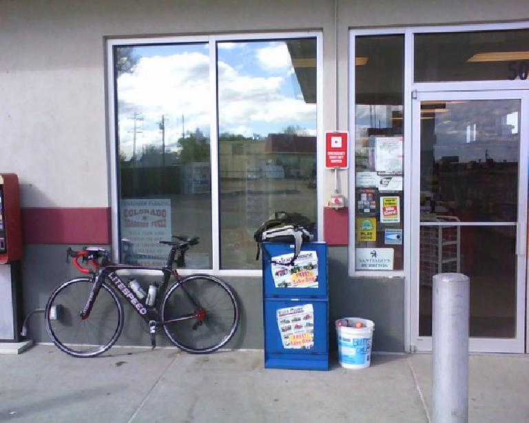 [Mile 212, 5:12 p.m.] At Checkpoint #7, a convenience store in Gilcrest.