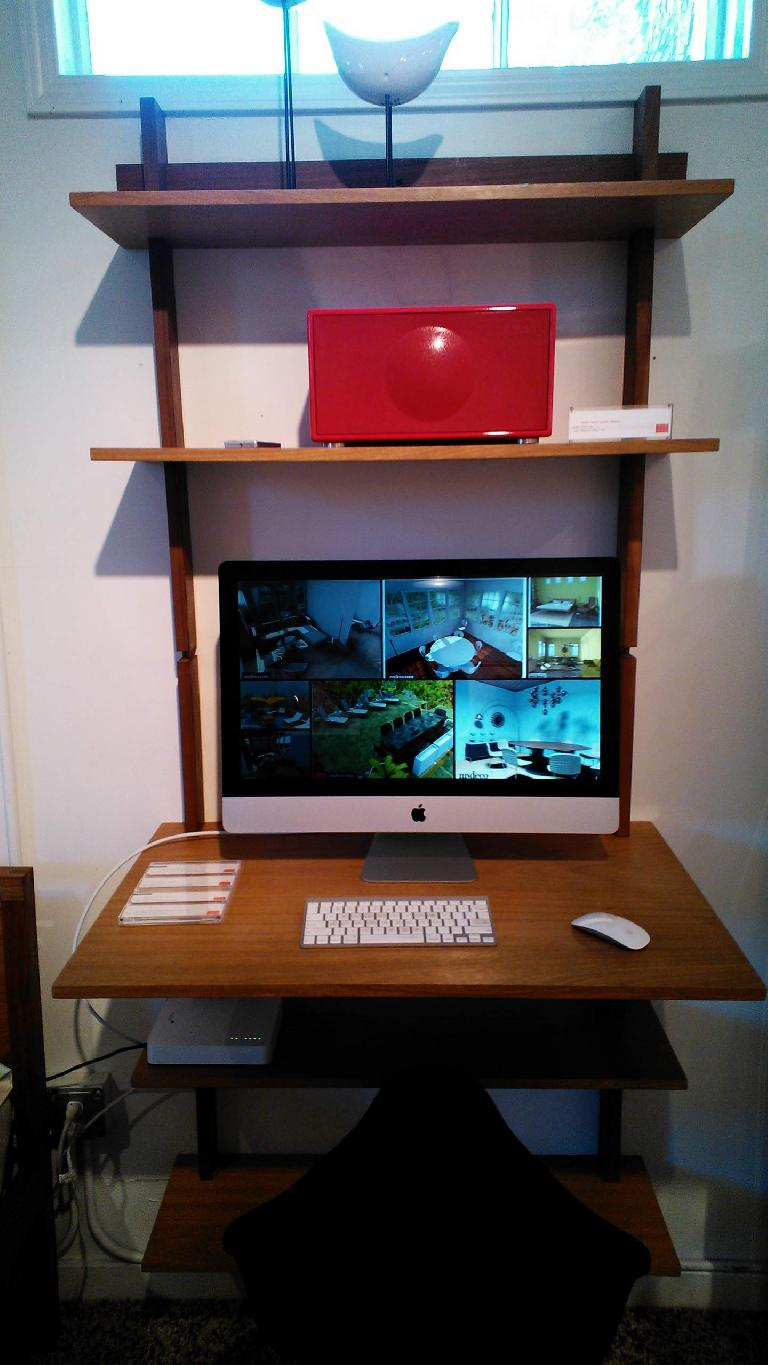 An Apple iMac at the Design Within Reach store in Palo Alto.
