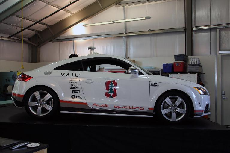 Stanford's autonomous Audi TTS. Photo: Stanford University.