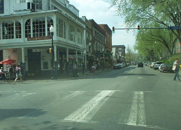 Downtown State College was very clean and full of youthful energy due to the students at Penn State.
