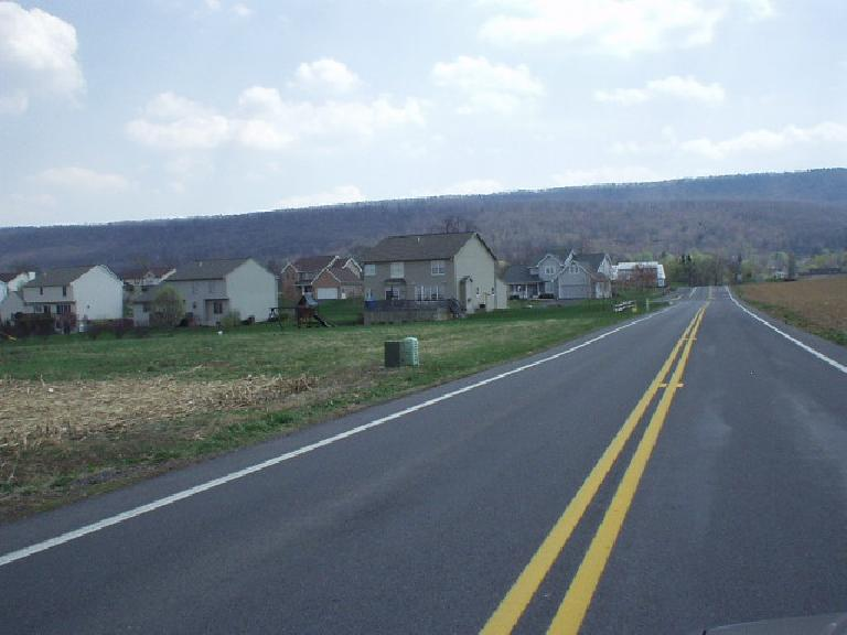 Lots of newer homes had been built just 4 miles away from downtown with a view of the mountains.