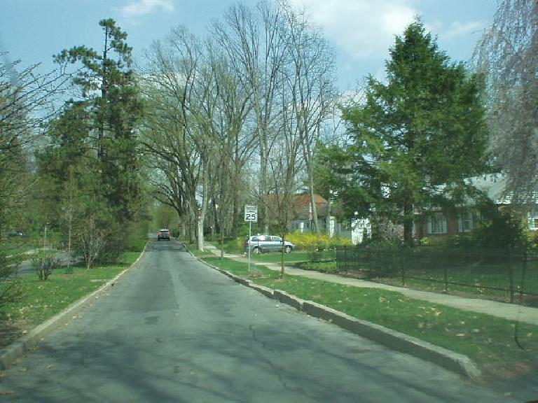 On the west side of town were older homes.  Every home I passed by in State College was well-kept.  The entire town seemed exceptionally clean and I could believe the statistics showing that crime here is virtually nonexistent.