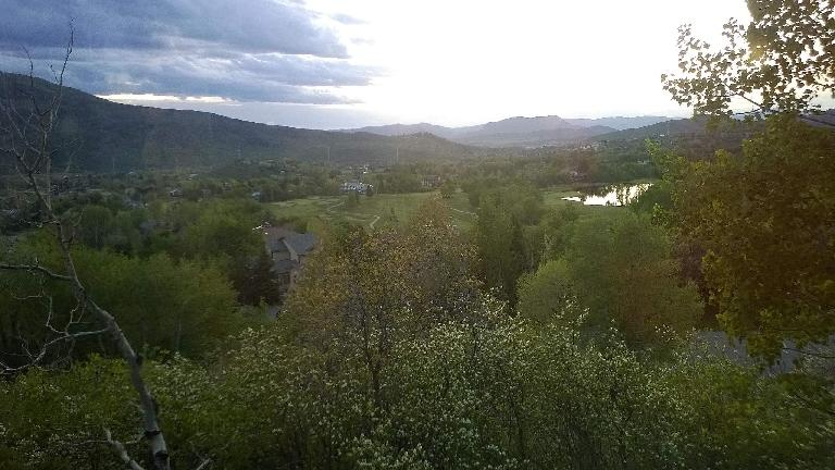 View of Steamboat Springs from Brad's townhouse.