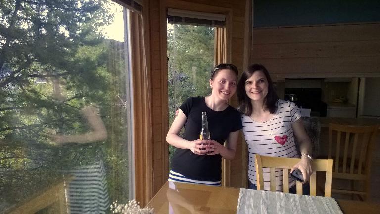 Maureen, Eli, Brad's townhouse