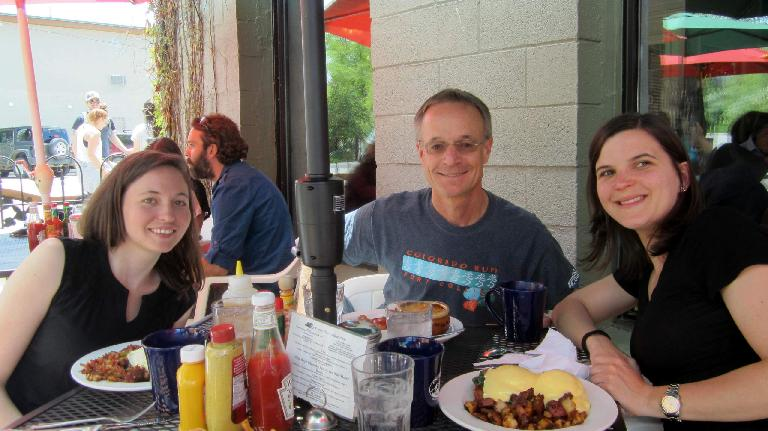 Maureen, Brad, Eli, Creekside Cafe and Grill
