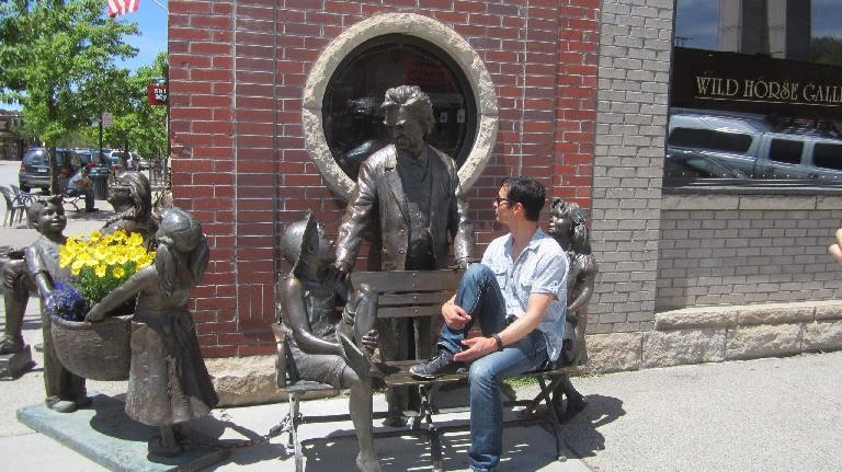 Felix Wong, statues, downtown Steamboat Springs