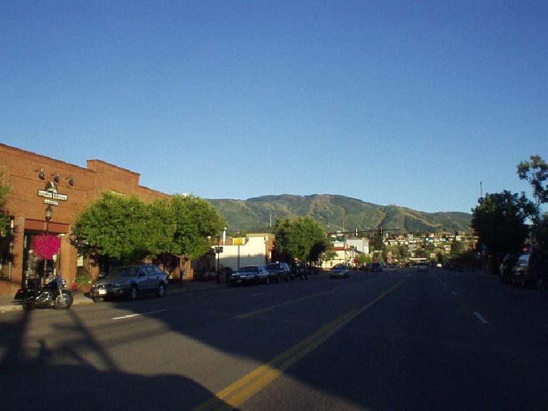 Another view of downtown, this time with the Park Range Mountains (I think) in the background.
