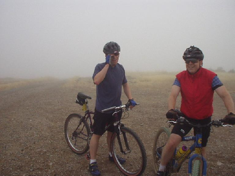 It was even foggier at the top of Montebello.