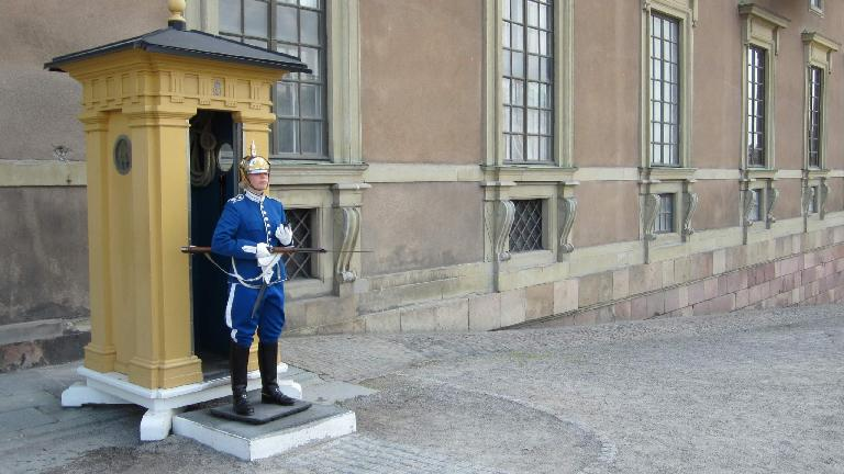 Guardsman at the Royal Palace in Stockholm. (July 25, 2013)