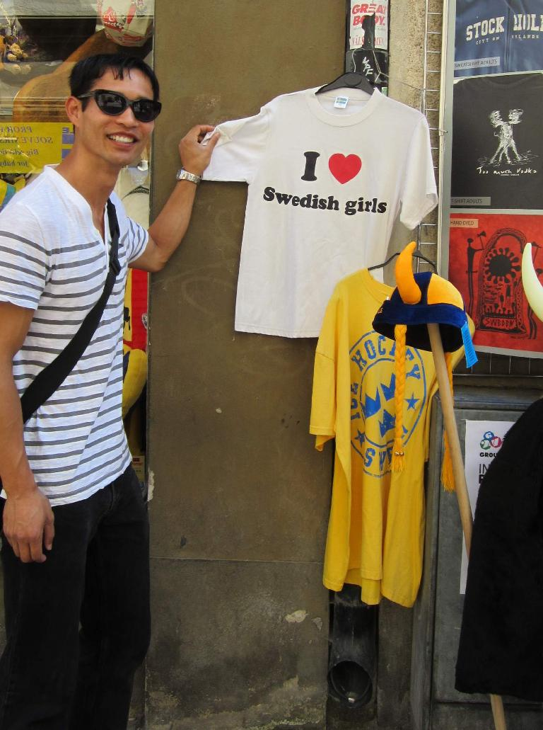 """I love Swedish girls."" (July 28, 2013)"