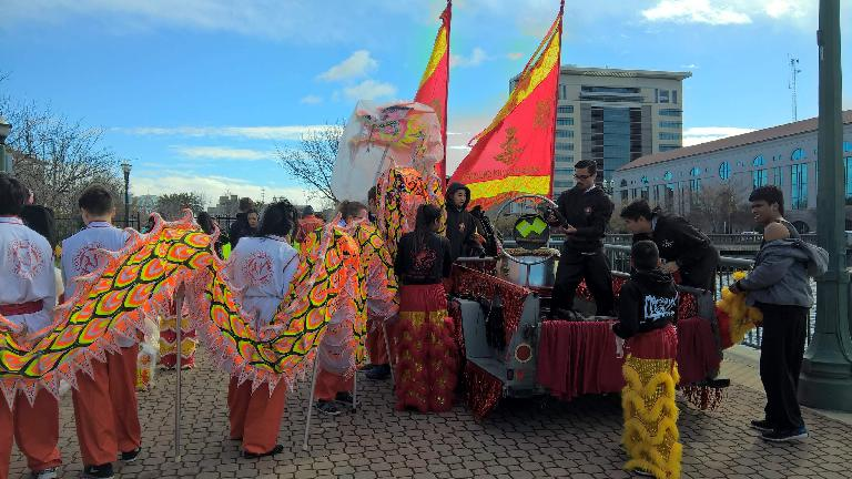 Preparations getting underway for the 2017 Stockton Chinese New Year Parade.