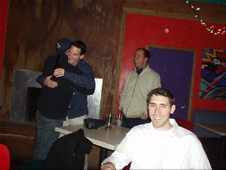 I went with Esther and Jay to the informal Lincoln High School Renunion at the Garlic Bros., where we promtly met Kelly Jonbrazil, among others.  It was great to see and talk with them after 10 years! (November 29, 2003)