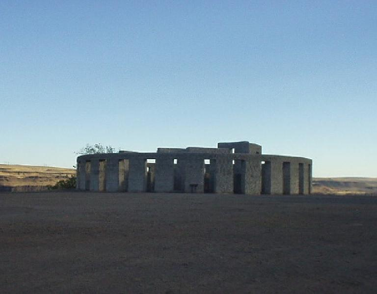 Another view of Stonehenge.  The desert scenery of Eastern Washington is quite a contrast with the green plains of Salisbury!