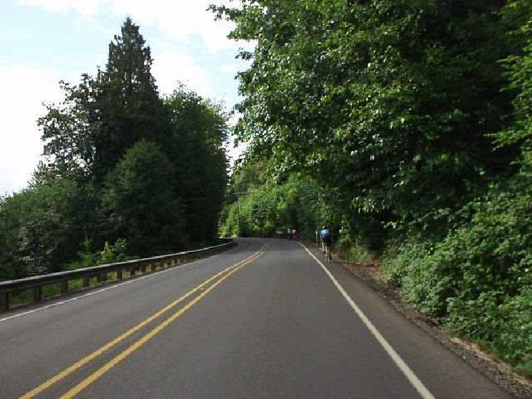[Day 2, Mile 148, 9:23 a.m.] There were a lot of rolling hills the second day, but nothing steep or long. (July 13, 2003)