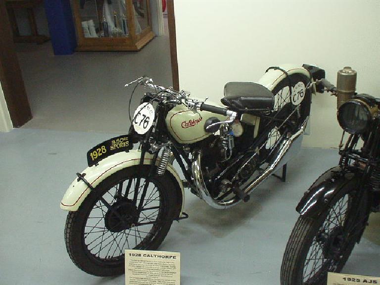 A 1928 350cc Calthorpe.