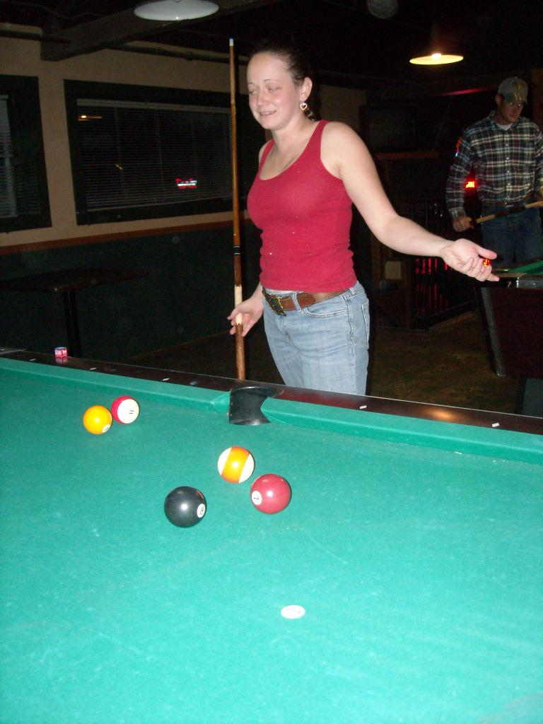 Ryan the pool shark. (October 3, 2009)