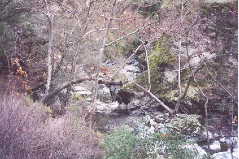 The little waterfalls below Little Yosemite.