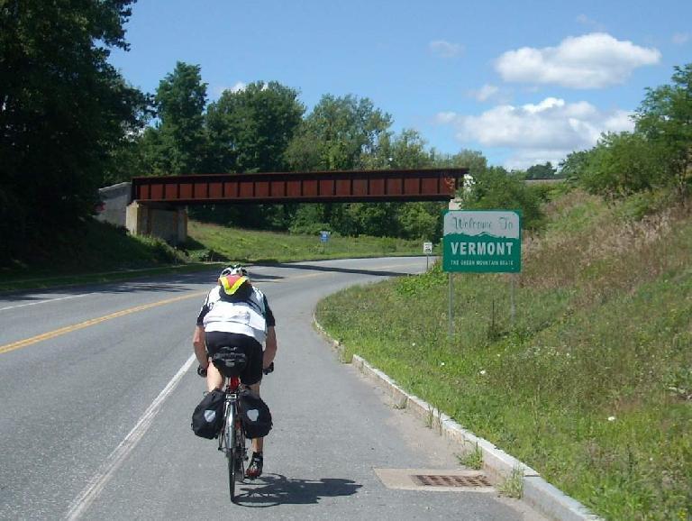 Ted Lapinski, Vermont sign, 2011 Boston-Montreal-Boston 1200km Permanent