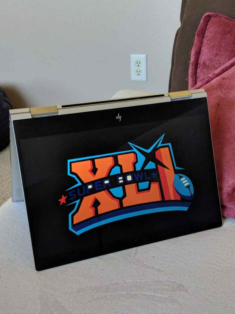 2018 HP Spectre x360, Super Bowl XLI logo