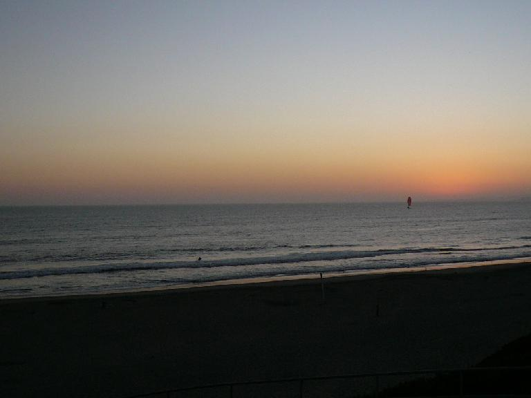 It was a fun evening nevertheless.  We finished around 7:30, with a nice sunset over the Pacific.