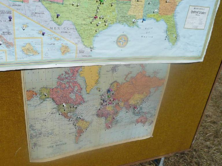 Attendees of the Sustainability Fair were from all over the world.