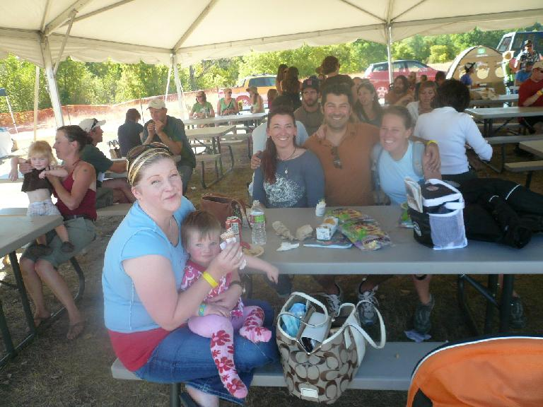 At the fair I met with Charis and her kids, Tori, Dave, and Shantel.