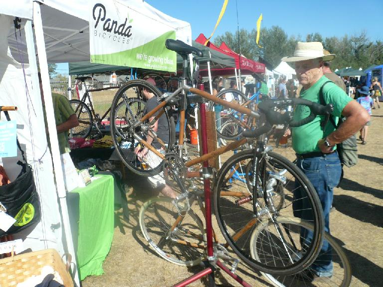 Panda bicycles are made of Bamboo and are hand-crafted in Fort Collins.