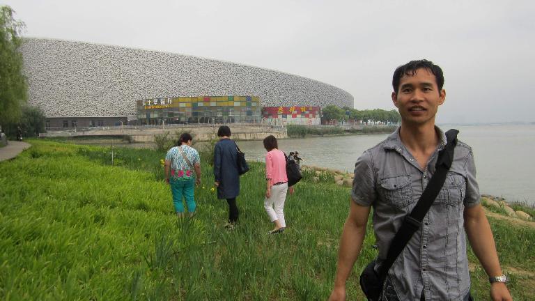 Felix Wong by Suzhou's Bird's Nest.