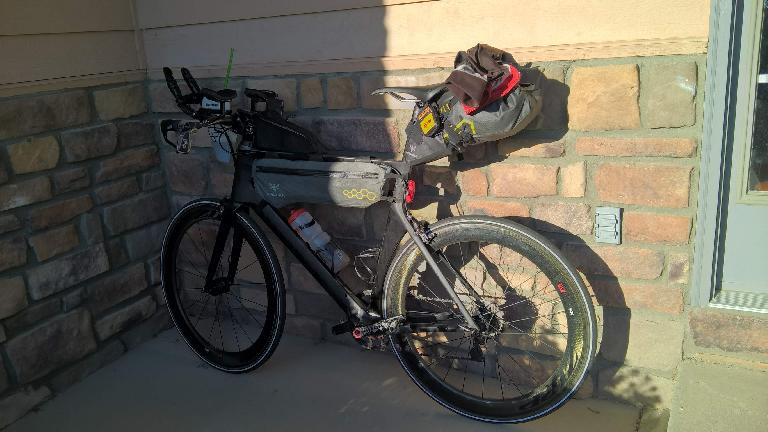 Michael Wacker's lightweight Canyon bike build for the 2016 Trans Am Bike Race. (June 15, 2016)