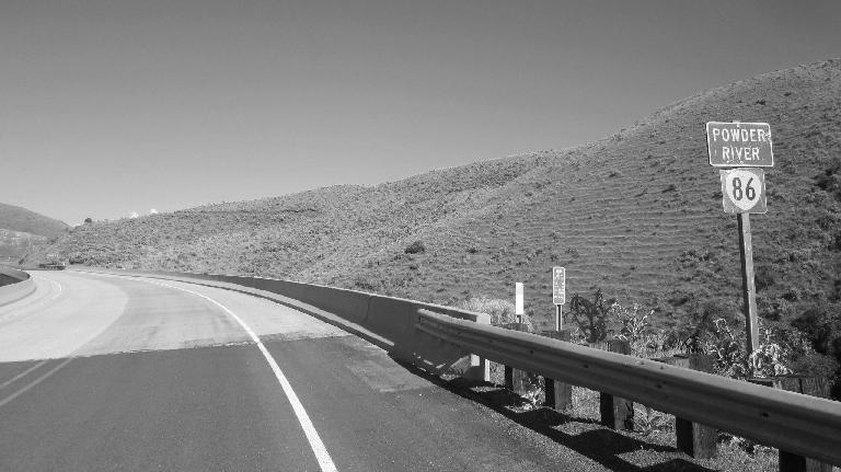 Guardrail along highway 86 by Powder Creek.