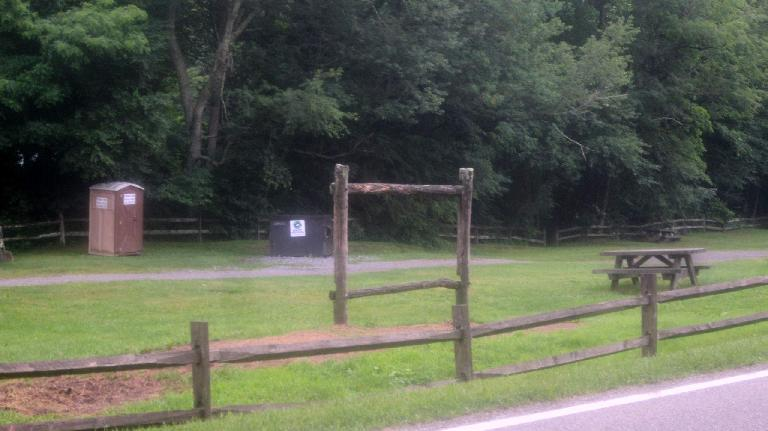 Porta potty at Konnarock, Virginia.