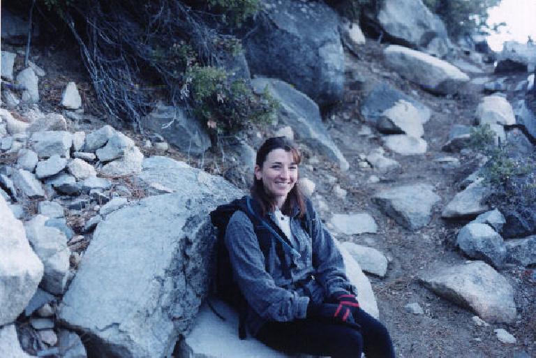 Pretty Tori on the trail.