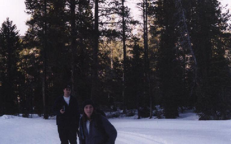 Kevin and Tori looking chilly!  (December 31, 2000)