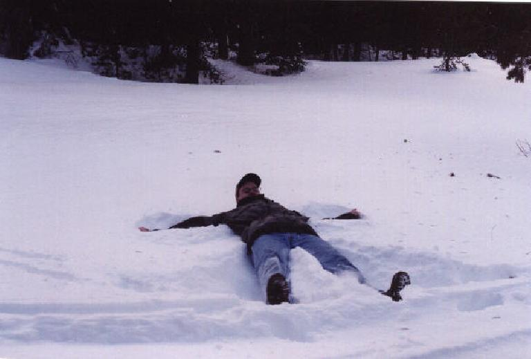 Mike as the Fallen Angel. (December 31, 2000)