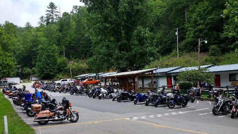 Motorcycles at Deals Gap.